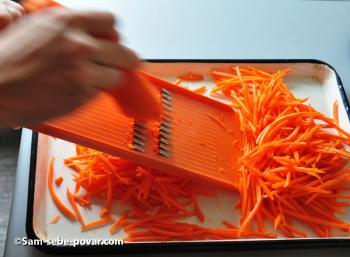 натираем морковь соломкой рецепт с фото