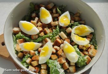 салат цезарь рецепт с пошаговыми фото