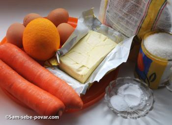 ингредиенты для морковного кекса, пошаговое фото