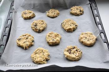 выкладываем печенье на противень, пошаговые фото
