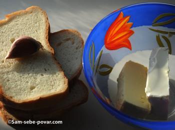 фото готовим гренки с фетой