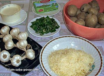 ингредиенты для запеченного картофеля, фото