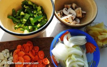 пошаговое фото, моем чистим овощи