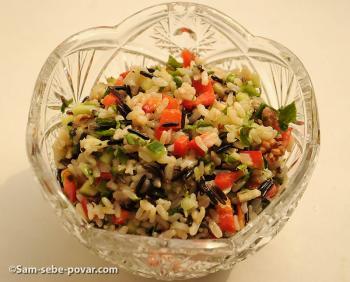 рецепт салата полезного салата из коричневого и дикого риса с пошаговыми фото