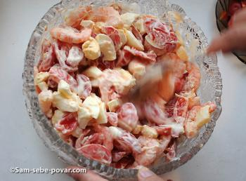 салат с креветками рецепт с пошаговыми фото