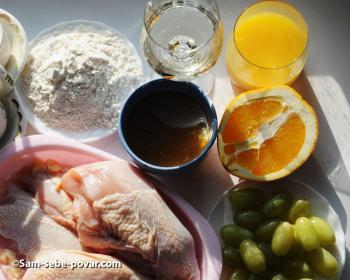 ингредиенты для курицы в медовом соусе, пошаговое фото