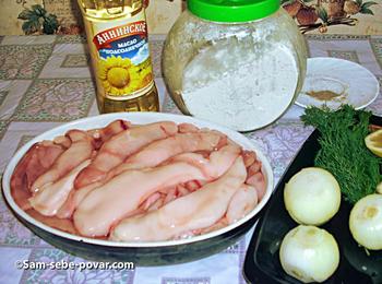 ингредиенты для рецепта жареные молоки, фото