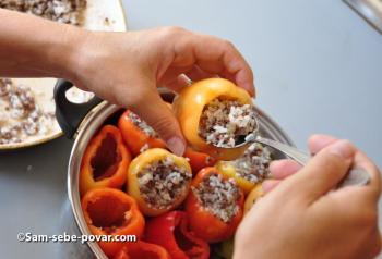 пошаговое фото для рецепта фаршируем перцы