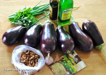 ингредиенты для печеных баклажанов, фото