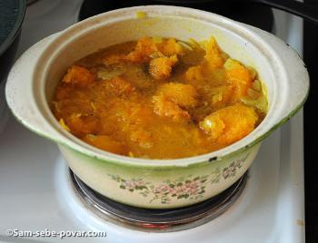 рецепт с фото, варим суп из запеченной тыквы
