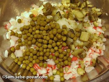 салат рецепт с фото мелко режем продукты для салата оливье