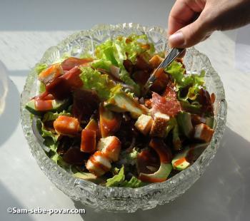 рецепт с фото, готовый салат с авокадо