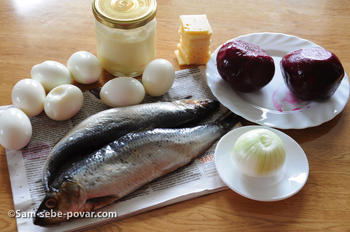 фото продуктов для селедки под шубой