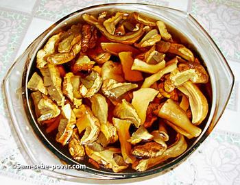 замачиваем грибы, рецепт с пошаговыми фото