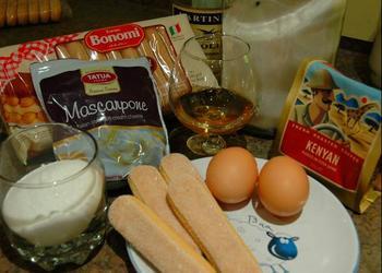 фото ингредиентов для приготовления тирамису